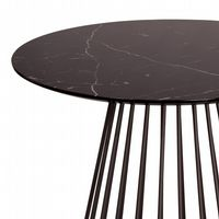 New Black Marble Effect Liverpool Dining Table- with Black legs